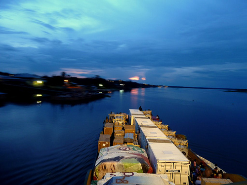 Transporte fluvial en Sudamérica