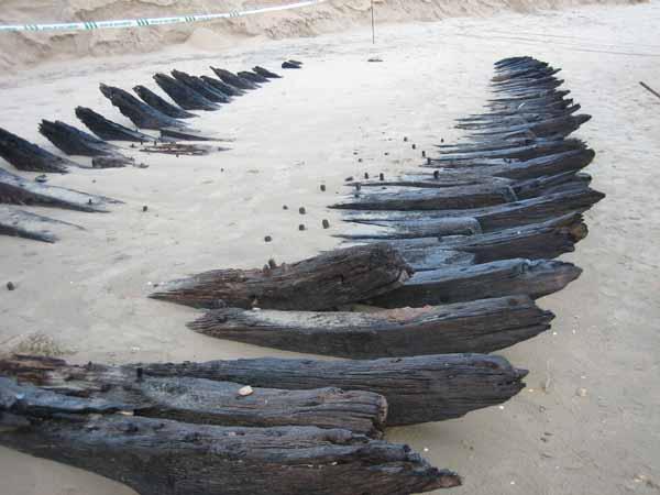 Un barco mercante holandés hundido en Huelva