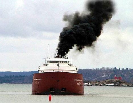 La contaminación producida por los buques
