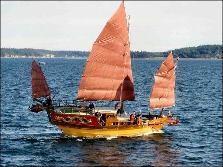 Antiguas embarcaciones chinas y griegas