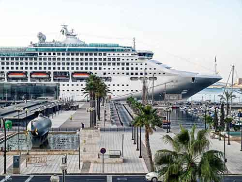 Murcia recibe cada año un mayor número de cruceros