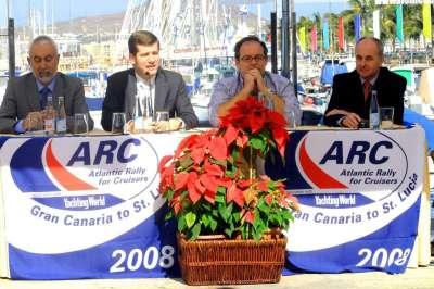 221 yates en la regata transoceánica ARC